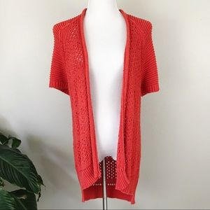 Anthropologie Guinevere Crochet Knit Cardigan S